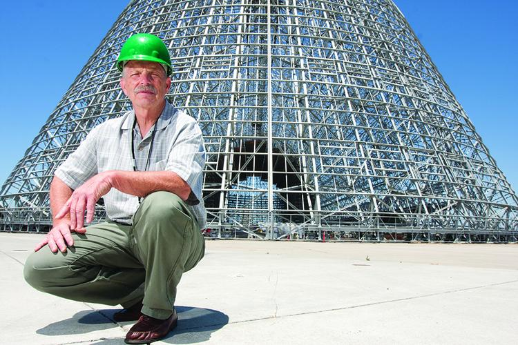 Powered up: Mike Williams, one of the founders of Systems Electric, is powering much of Hangar One's clean up.