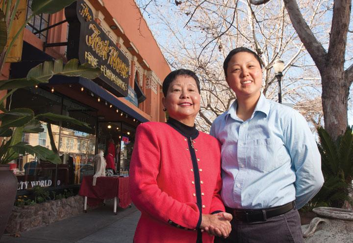 Angela Tai, right, with her mother Lydia Tai, are landlords and business owners along The Alameda (including The Teak House). The family's business would have to pay about $1,800 if the maintenance assessment passes.