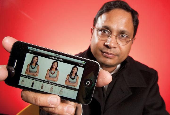 ProSent Mobile CEO Prosenjit Sen plans to charge retailers who use VIZL to help customers virtually try on apparel, jewelry and other fashion accessories.