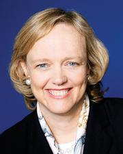 Not Meg Whitman: The Hewlett-Packard CEO discussed planned job cuts numbering up to 25,000, but gave no word on the fate of H-P's 3,000 Massachusetts workers.