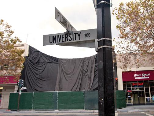 Apple Inc. has kept its design for its new store under wraps in downtown Palo Alto. The new location replaces a store two blocks away.