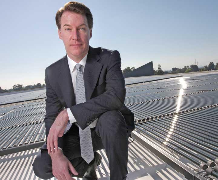 Solyndra founder and former CEO Chris Gronet stepped down from his role on Aug. 20.
