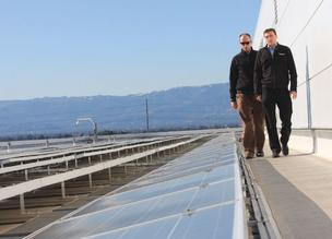 SolarCity co-founders and Rive brothers, Lyndon, front, and Peter, back