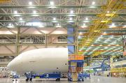 A view of the factory floor during the Sept. 25 787 Dreamliner delivery event at Boeing  manufacturing facility in Everett.