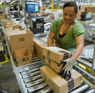 Online retailer Amazon.com (NASDAQ:AMZN) may lose some of its competitive edge as it is forced to charge sales taxes in more areas.