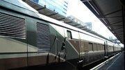 An Amtrak Cascades train in Seattle.