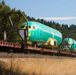 BNSF is adding more rail cars to carry Boeing 737 fuselages from Wichita, Kan., to Everett, Wash.