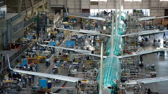 Boeing Co. builds its 737s in Renton.