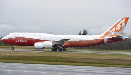 Boeing is slowing down 747-8 production in Everett.