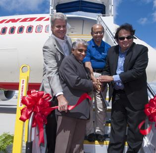 Air India unveiled its new Boeing 787 Dreamliner in India on Wednesday.