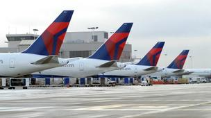 Delta Air Lines Inc. is adding charging stations at Kansas City International Airport and 12 other airports.