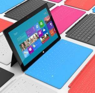 Microsoft goes after Apple's iPad with a $499 price tag for its Surface tablet.