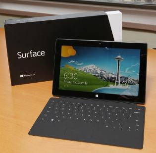 With its Surface tablet, Microsoft now has a 1.8 percent share of the worldwide tablet market.