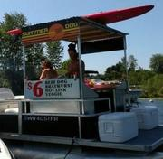 Chris Rice and Emma Schwartzman run Summer Dog, a floating Seattle hot-dog stand.
