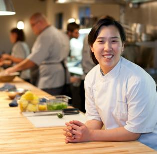 Chef Rachel Yang's Wallingford restaurant Joule will be relocating to The Fremont Collective this summer. She is shown here at sister restaurant Revel in Fremont.