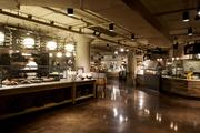 There are eight food stations leading up to the dining area at Sodo Kitchen, in Starbucks' headquarters building in Seattle.