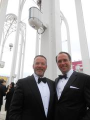 Left/right: Courtney Womack and Steve Kutz, among the 700 guests enjoying Pacific Science Center's Festival of the Fountain's Golden Gala July 27.