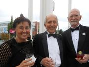Left to right, Carole Grisham and husband John Aslin with friend Jim Norris at PSC's July 27 Golden Gala.