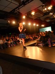 Vogue's Anne Vincent holding court on the runway at the Vogue Fashion Show held at the Hyatt Regency Bellevue recently.