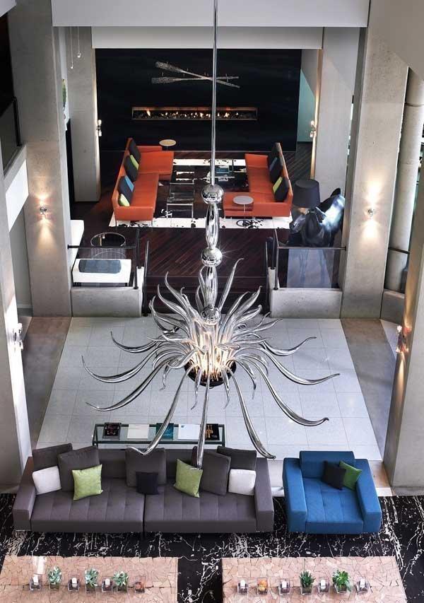 The hotel's lobby.