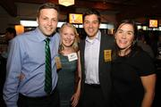 From left, 40 Under 40 honoree Charlie Claxton of Produxs Inc., his wife, Lindsey Claxton, honoree Mark Birzell of Loft9 Consulting, and his wife Laura Birzell attend the award bash at Showbox Sodo in Seattle on Sept. 20.
