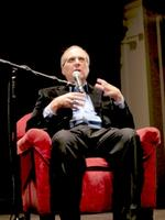 Paul Allen talks about his book Idea Man at Seattle Town Hall, before appreciative audience