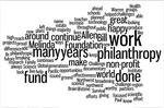 The Giving Pledge, in their own Wordles