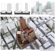 Amazon's preferred design scheme for its Denny Triangle buildings would allow for more open space, according to NBBJ architect John Savo.