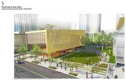 Another view of the playing field on the proposed Amazon Denny Triangle campus.