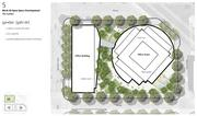 In plans for Amazon's proposed Seattle campus, Block 20 will include onsite parking for food trucks on the north side and possibly a water garden near the southeast corner of the site.