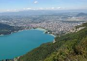 The town of Annecy and Lake Annecy in France as seen from Mont Veyriez. Fugitive real estate developer Michael R. Mastro was reportedly captured in the area after being on the lam since the summer of 2011.