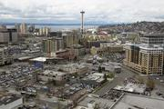 The view from Facebook's new downtown Seattle offices, looking west.