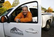 Chris Burrows, president and owner of Evergreen Building Products, pre-climb.