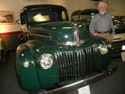 Bob Junell, publisher of  Northwest Car Events Calendar with 1946 Ford