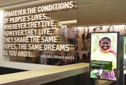 This quote from Melinda French Gates welcomes visitors to the Bill & Melinda Gates Foundation visitors center.