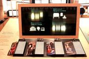 A display in the Partnerships gallery of the Bill & Melinda Gates Foundation visitors center on the foundation's educational work.