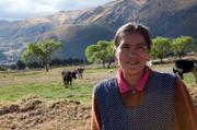 Albertina Calanchi is a 35-year-old dairy farmer in Peru who used loans and education through Seattle-based microfinance Global Partnerships to grow her dairy business. Calanchi rises each morning just after 5 a.m. to milk her cows. Then she hauls milk to the nearby river to cool for the 7 a.m. market pick up, before heading back to her house to make breakfast for her family and opening her family store.