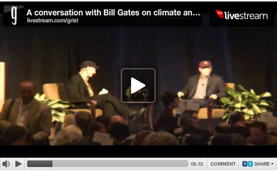 Jabe Blumenthal and Bill Gate sit down for their Q&A Tuesday morning.