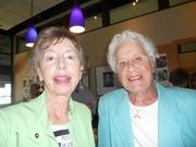 left to right: Penny Peabody and Phyllis Lamphere, longtime friends of Jim Ellis, at his 90th birthday bash.