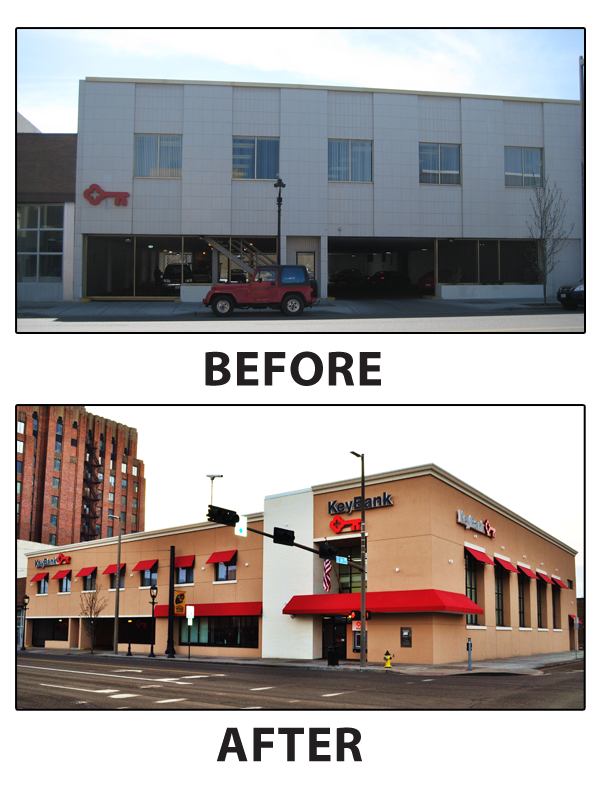 KeyBank Completes Major Remodel In Yakima Puget Sound Business Journal Simple Spokane Remodeling Exterior Remodelling