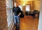 Jeff Schoenfeld in his office in the Boston Hotel building.