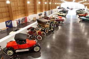 The Grand Gallery at the LeMay America's Car Museum features a representative sampling of cars from Harold E. LeMay's collection.