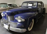 A 1942 Lincoln Continental 2-door coupe at the LeMay - America's Car Museum.  Cars from 1942 are rare because civilian auto production stopped so that auto plants could contribute to the war effort during World War II.