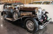 A 1931 Duesenberg Model SJ on display on the Custom Coach ramp at the at the LeMay - America's Car Museum. Fewer than 40 of the Duesenberg Model SJ were produced.