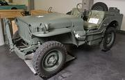 A 1945 Willys 4x4 Military jeep on display at the LeMay - America's Car Museum.