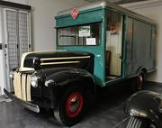A 1947 Ford 1-ton Railway Express Panel Truck on display at the LeMay - America's Car Museum. This truck came from the Olympia area. The Railway Express company, the UPS/FedEx of its day, moved packages worldwide from 1917-1975.