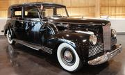 A 1942 Packard limousine is on display at the LeMay - America's Car Museum.