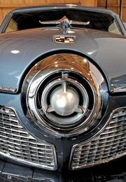A 1951 Studebaker stands guard in the lobby of the LeMay-America's Car Museum in Tacoma.