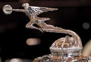 The hood ornament of 1930 Packard is ready to take flight. The Packard belongs to the LeMay-America's Car Museum in Tacoma.