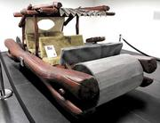 """George Barris built the Flintmobile for the 1994 movie """"The Flintstones."""" The Flintmobile now belongs to the LeMay-America's Car Museum in Tacoma."""